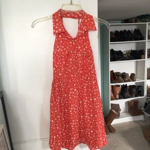 Vintage Style Collared Dress